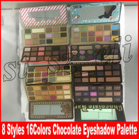 makeup 16 großhandel-Gesichts-Make-up Süßer Pfirsich Lidschatten Weißer Schokoladenriegel Halb-süß 16 Farben Halb-süßer Schokoladengold Lebkuchen-Lidschatten-Palette