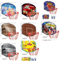 Wholesale indoors gift for sale - Hanging Basketball Backboard Sports Toys Mini Netball Hoop Children Gifts Indoor Adjustable Multiple Styles Popular sy F1