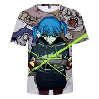 3d лица оптовых-Новый 3D принт Sally face с коротким рукавом футболки мужские женские Sally Face Hot Harajuku 3D принт футболка лето