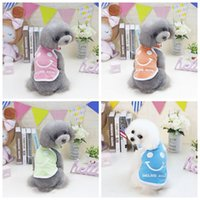 Wholesale summer costumes for dogs for sale - 2019 Pet Dog Summer Vest Smile Colorful Clothes Small Puppy Basic Sleeveless Doggie Costume T Shirt for Chihuahua Yorkie