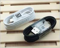 nota cargador original al por mayor-A +++ Original OEM Calidad 1.2m 4FT Cargador de carga rápida Cable USB Tipo de cable C Tipo-C Para Galaxy S8 S9 S9 + Plus Nota 8 9 Teléfonos Adnrod MQ100