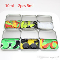 Wholesale base casing for sale - Group buy 4 in Tin Silicone Storage Kit With ml Silicon Wax Container Oil Jar Base Dab Dabber Tool Metal Box Case
