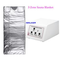 Wholesale heat blankets resale online - Factory Price Zones FIR Sauna Heating Blanket Fat Burning Space Carbon Fiber Body Slim Wrap