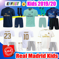 ingrosso bambini della balla jersey-2019 Real Madrid Kids Kit Soccer Jerseys 19/20 Home HAZARD White Away 3RD 4TH Boy Bambino Modric 2020 SERGIO RAMOS BALE Maglie calcio