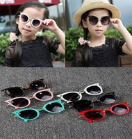 augen cartoons groihandel-6 stil Nette Baby Cat Eye Sonnenbrille Kinder Tier Cartoon UV400 Sonnenbrille Kinder Brillen Gläser Für GirlsBoys Geschenk dc262