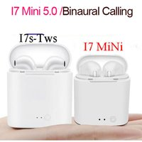 Wholesale wireless earphones for sale - I7S Mini TWS Bluetooth Headphones Wireless Earphones Headset Double Earbuds with Charging Box for Phone with Retail Package