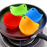 Wholesale silicone egg cooker for sale - Group buy Silicone Egg Poacher Poaching Pods Egg Mold Bowl Rings Cooker Boiler Cuit Oeuf Dur Kitchen Cooking Tools Pancake Maker WX9