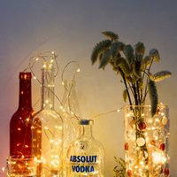 Wholesale battery light strings resale online - LED Copper Wire String Lights CR2032 Button Cell Battery Rice String Lights M LED Fairy Lamp for Christmas Wedding Decoration