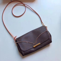 Wholesale cell phones mm for sale - Group buy FAVORITE MM Handbag M40718 Stylish Women Golden Chain Short Shoulder Bag Engraved Front Plate Leather Strap Cross Body Lady Bag