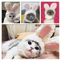 Wholesale cosplay white cat ears for sale - Group buy Dogs Cats Cartoon Costumes Cute White Ear Shaped Hat Cap Dog Kitten Cosplay Headband Year Party Accessory Po Props