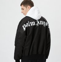 куртки большого размера оптовых-18FW-Палм-Полет Ангела Куртки пальто ветровка бомбер толщиной тонкий моды для мужчин куртки и пальто м~XL HFWPJK119