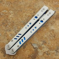 Wholesale butterfly knife training blade for sale - Group buy Butterfly BRS Theone bushing training knife D2 blade titanium handle BM40 BM41 BM42 BM43 BENCHMADE knife