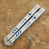 couteaux d'entraînement en titane achat en gros de-Papillon BRS Theone douille couteau de formation manche D2 lame titane BM40 BM41 BM42 Couteau BENCHMADE