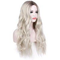 искусственный парик оптовых-Party Natural Lightweight Long Durable Cosplay  Fiber Artificial Wig Decoration Fashion Lady Accessories Big Wave