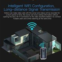 sistema de câmera de porta sem fio venda por atacado-Sistema de segurança do registro visual da câmera do IR sem fio video esperto de M13 WiFi da porta M13