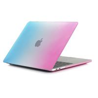 macbook air frosted al por mayor-Caso para el 2018 nuevo MacBook Pro 11.6 12 13.3 esmerilado Gradiente duro recubierto de goma caso Retina portátil cubierta protectora completa Aire
