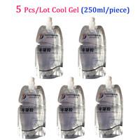 cilt makineleri toptan satış-BÜYÜK İNDİRİM !!! Tüm Güzellik Makineleri 250ML 3pcs / Lot CE için IPL Lazer Soğuk Jel Cilt Gençleştirme HIFU RF kavitasyon zayıflama Jel