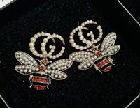 marfim jóias china venda por atacado-2019 nova listagem de designer brincos de aço titanium carta brincos de presente marca de amor jóias de alta qualidade entrega rápida 008