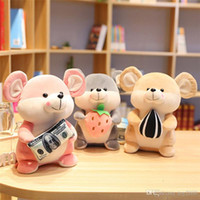 Wholesale snack toy resale online - Hamster with Snack Pillow Down Cotton Plush Toy Soft Stuffed Animals Doll Cushion Cartoon Cute gift For child kids toys