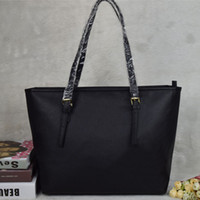 Wholesale leather fashion casual bag resale online - Hot selling classic style Lady purse casual handbags fashion purse women bags PU leather handbags ladies shoulder tote female