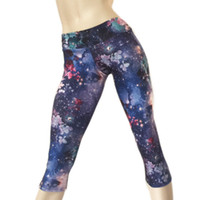 Wholesale hot black women yoga pants for sale - Group buy the best quality new women sport Yoga Workout Capri pants low waist hot Bikram sxyfitness handmade US yoga outfits