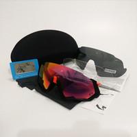 bisiklet gözlükleri toptan satış-Polarize Bisiklet güneş gözlüğü uçuş ceket gözlük 2018NEW Stil Bisiklet Koşu Balıkçılık spor Güneş Gözlüğü bicicleta Gafas ciclismo 4 adet Lens