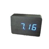 moderna mesa de madeira venda por atacado-2019 melhor venda de madeira LED inteligente moderno digital eletrônico despertador de mesa