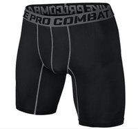 Wholesale combat jersey for sale - Group buy Fashion brand PRO sport men basketball shorts tight training practise Sweat quick drying skinny compression combat gym men short S XL