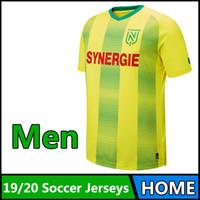 laufen mann hemd großhandel-19-20 thailändische Qualität Ligue 1 FC Nantes Fußballshirt 2019 2020 FC Nantes Heimtrikots Lauftrikots für Männer