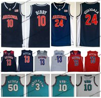 jersey de iguodala al por mayor-2018 Arizona Wildcats 13 DeAndre Ayton College Camisetas de baloncesto Vintage 50 Reeves 3 Abdur Rahim 24 Andre Iguodala 10 Mike Bibby