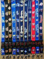 Wholesale strap keychains for sale - Group buy ocs baseball Neck Lanyard Keys key chain Badge Holders Dodgers Diamondbacks Mobile Phone Neck Straps