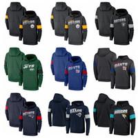 jatos hoodies venda por atacado-Mens Pittsburgh Oakland Jacksonville New York Jaguars Giants Jets Raiders Steelers Team Logo Desempenho Moletom Com Capuz