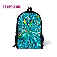 ingrosso borse per ragazze prescolari-Thikin 2019 Color Blocking Schoolbag per adolescenti Giovani ragazze Fashion Backpack Preschool Shoulder Bag per allievo
