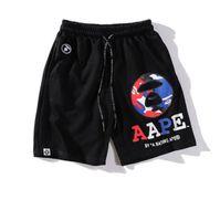 cintura lisa venda por atacado-Designer de moda Homens Shorts com Padrões de Letras de Verão Esporte Plana Marca Beach Shorts Elástico Na Cintura de Luxo Calças Curtas para Homens roupas