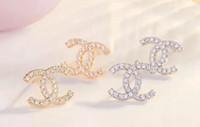 indische brautohrringentwürfe großhandel-Hohe Qualität Berühmte Marke Design Schmuck Mode Edelstahl Stil Luxus Vergoldet Ohrringe Für Mädchen Frauen 7625