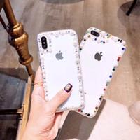 bling чехлы для 5c оптовых-Bling Кристалл Золотой Императорский Жемчуг Жесткий Жесткий чехол для iPhone X XS Макс XR S10 + S9 + HUAWEI4s 5S 5C 6 6 Plus 7 8 Plus
