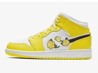 Wholesale fabric flowers for shoes resale online - Mid GS Dynamic Yellow Basketball Shoes for Women Jumpman Skate Shoe Womens Sports Chaussures Women s Sneakers Female Sneaker Girls Flowers