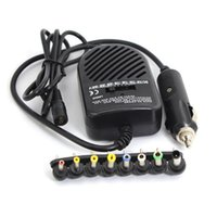 Wholesale free charger china resale online - Universal DC W Car Auto Charger Power Supply Adapter Set For Laptop Notebook with detachable plugs PS
