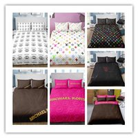 cama king size de impresión 3d al por mayor-Mejores ventas de la cubierta de impresión edredón del lecho de serie en 3D King Size Doble con cama grande y fundas de almohada 2/3 piezas de ropa de cama