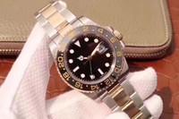 data de relógio de luxo de mergulhador venda por atacado-Luxo melhor edição nfactory v7 18 k ouro real envolto 40mm gmt 116713ln cerâmica suíço eta3186 movimento automático data mergulhador esporte homens relógio