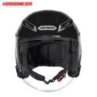 Wholesale dual helmets for sale - Group buy HEROBIKER New Motorcycle Helmet Open Face Moto Helmet Motorbike Full Face Street Bike Racing Moto Cascos Dual Lens