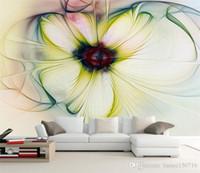 Wholesale beautiful backdrops for sale - Group buy Custom Photo Wallpaper Modern Art Abstract Floral Wallpaper Bedroom Living Room Sofa Backdrop Beautiful Flower Wallpaper Mural Home Decorati