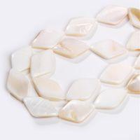 mãe natural pérola contas shell venda por atacado-Frete grátis Branco Mãe Natural de Pearl Shell Beads geométricas Rhombus forma da concha Beads para Hnadmade Pulseira Colar 15