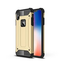 Wholesale ironman apple online – custom Dual Layer Armor Ironman Hybrid Shockproof Case for iPhone X XR XS MAX Samsung Note S9 S8 J3 J4 J6 J7