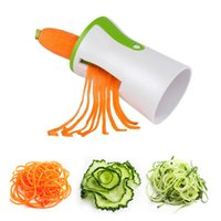 Wholesale kitchen funnels stainless steel resale online - Portable Spiral Funnel Vegetable Grater Stainless Steel Carrot Cucumber Slicer Chopper Vegetable Spiral Blade Cutter kitchen tools FFA1859
