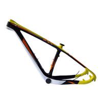 sarı dağ bisikleti toptan satış-Sıcak satış 29 inç karbon fiber dağ bisikleti raf tüm-karbon bisiklet aksesuarları üreticileri hediye olarak sarı etiketl ...