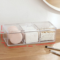Wholesale acrylic clear makeup storage for sale - Group buy Clear Acrylic Organizer Makeup Pads storage Holder Cotton swab box box desktop Organizer Jewelry Case for Cosmetics
