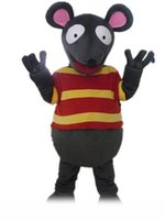 Wholesale full suits for sale resale online - 2019 Discount factory sale grey rat suit mouse mascot costume with two big eyes for adult to wear for sale