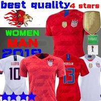 football américain achat en gros de-4 étoiles Coupe du Monde Amérique fille Soccer Jersey Maillot Lavelle champion champion USA femmes homme LLOYD RAPINOE KRIEGER Football Uniforme Femme 19 20