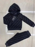 Wholesale baby kids leather clothing resale online - Newborn Infant Kid Baby Boys Girls Autumn Long Sleeve Hooded Tops Romper Plaid Long Pants Outfits Baby Clothes for